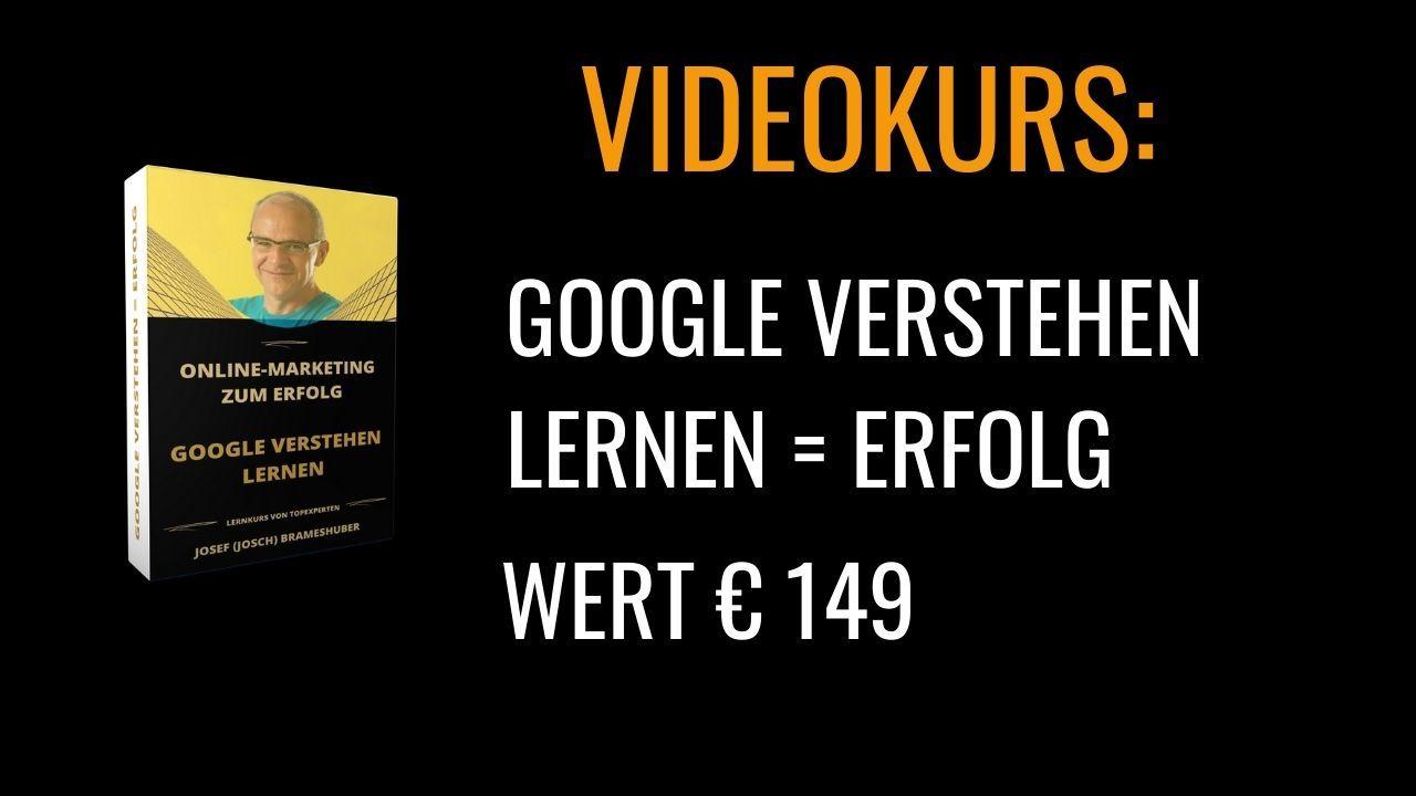 Videokurs Google verstehen lernen