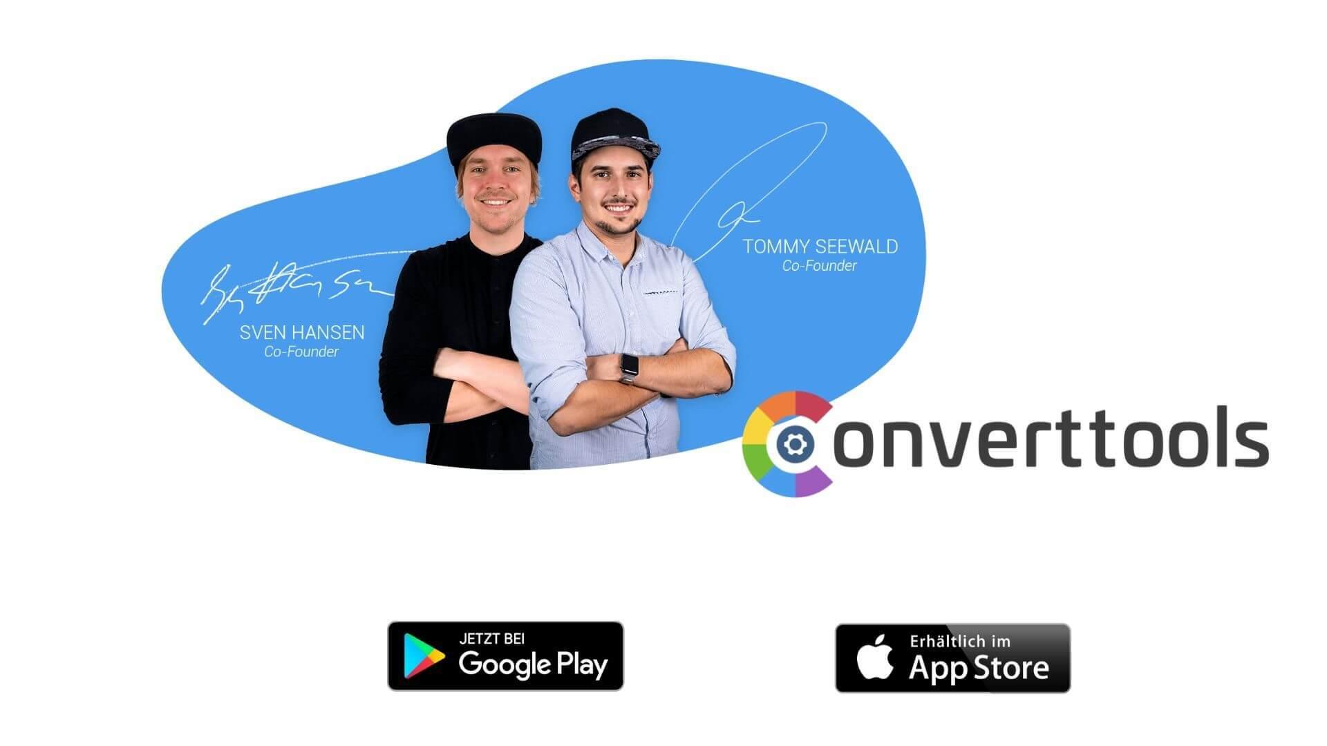 Converttool mit dem Founders Sven und Tommy