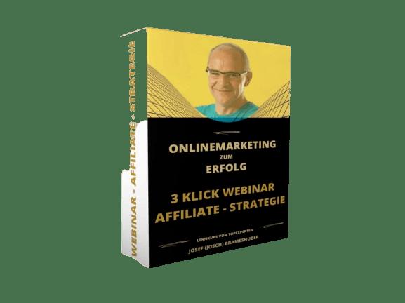 Produktbild von der 3 Klick Webinar Affiliate Strategie