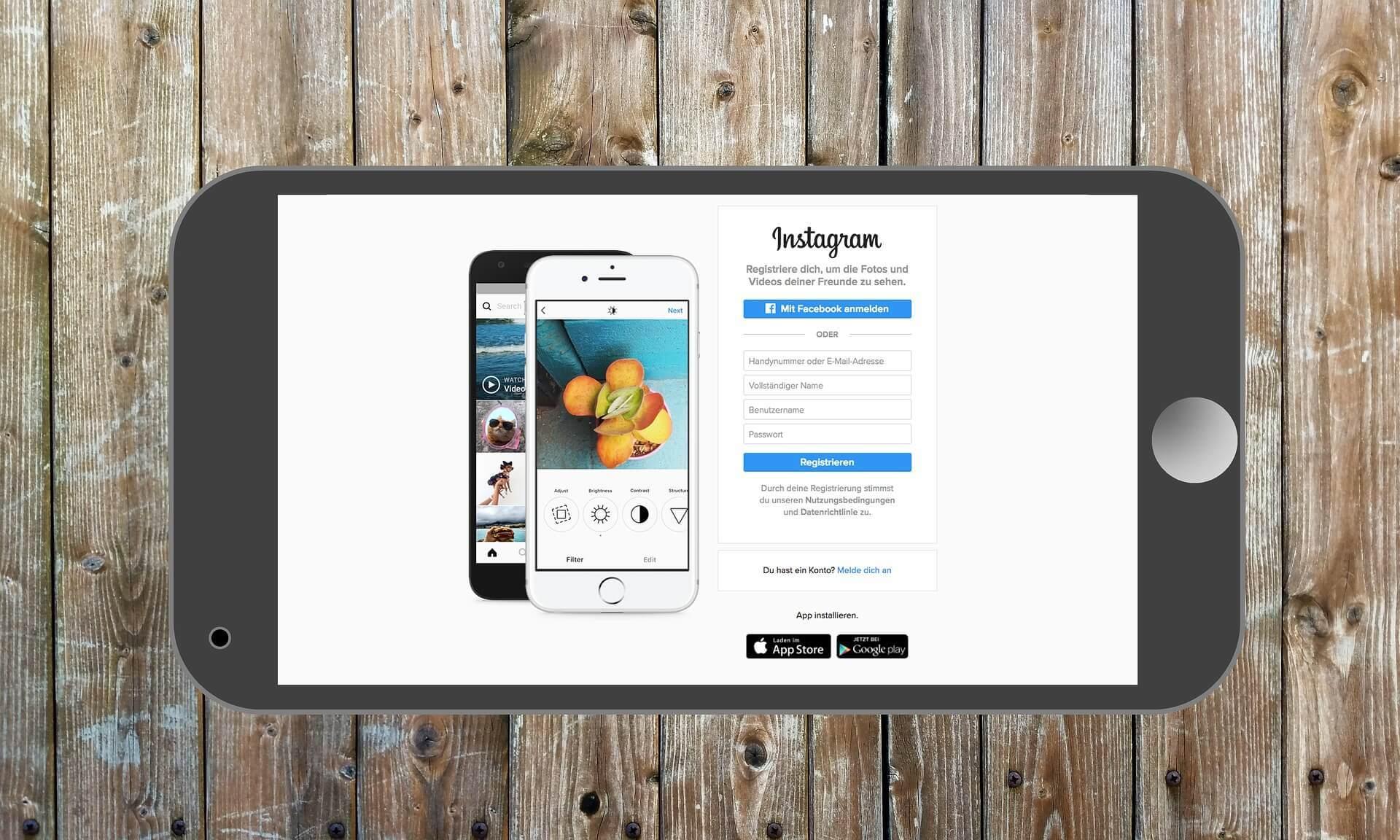 Instagram die Plattform für Bilder